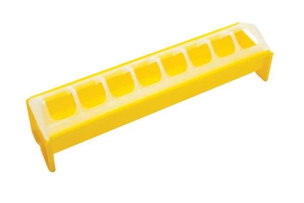 Feeder: 30cm Yellow Plastic trough