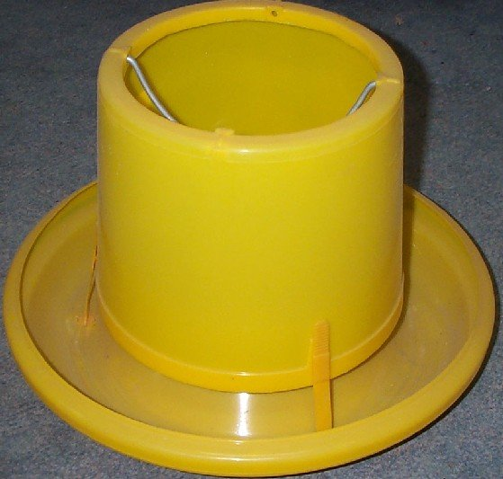7kg Yellow Plastic feeder